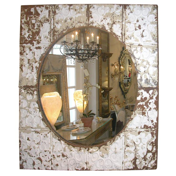 Victorian Tin Ceiling Tile Mirror At 1stdibs