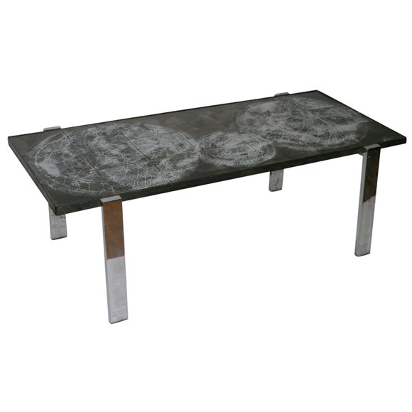 Ceramic Tile Coffee Table By Belarti At 1stdibs