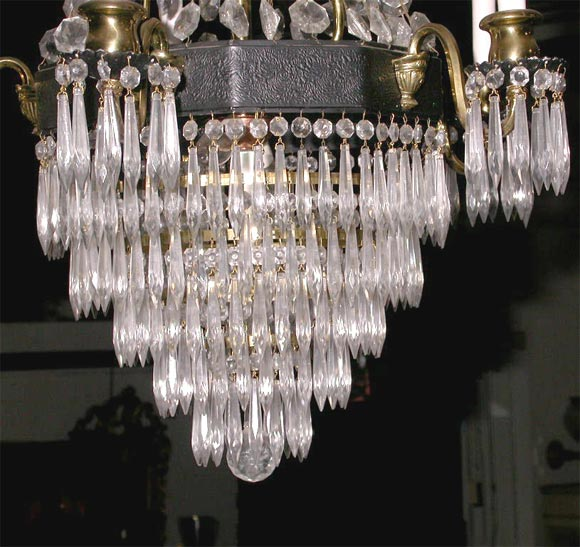 American Classical Crystal Chandelier For Sale
