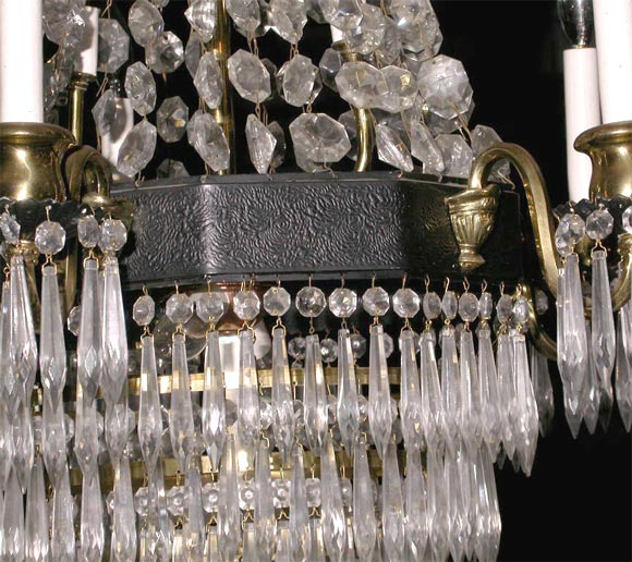 American Crystal Chandelier For Sale