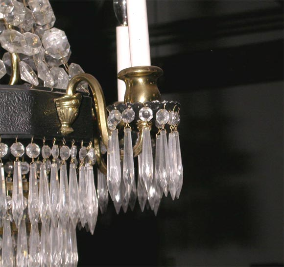 20th Century Crystal Chandelier For Sale
