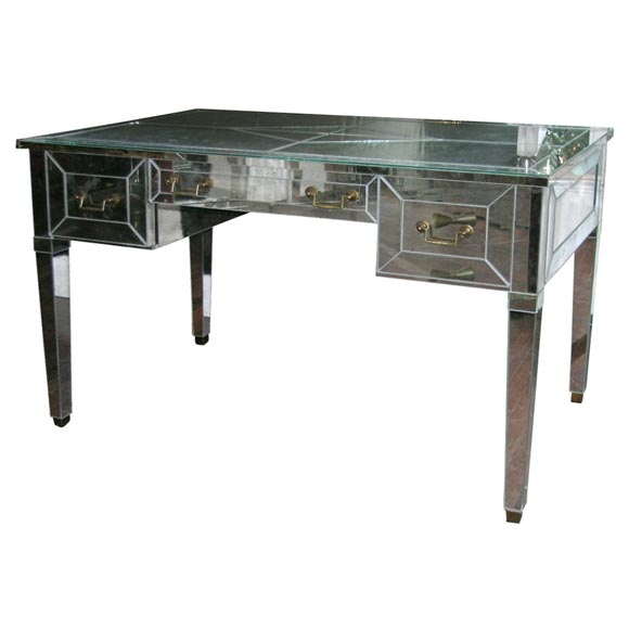 mirrored writing desk Browse all mirrored furniture - free shipping on our best-selling reflective designs at lamps plus perfect to brighten and broaden the look of any room - shop our full selection of mirror cabinets, consoles and chests.