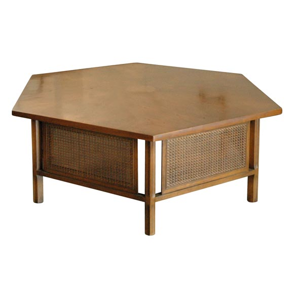Drexel Hexagonal Coffee Table At 1stdibs