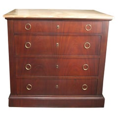 Four-Drawer Marble-Top Chest