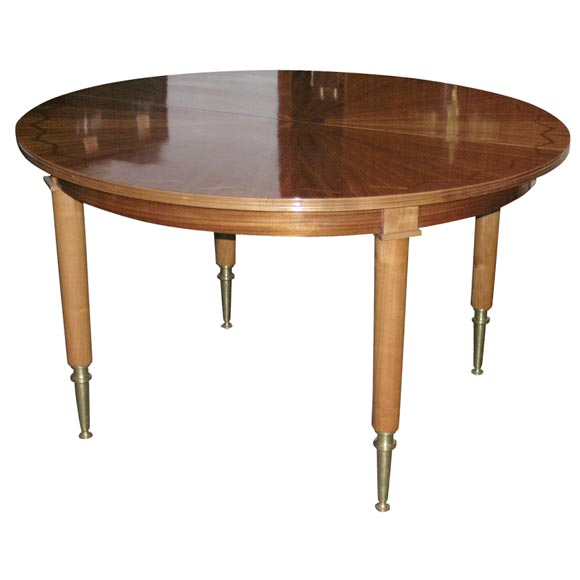 Round Extension Dining Table By Jules Leleu At 1stdibs