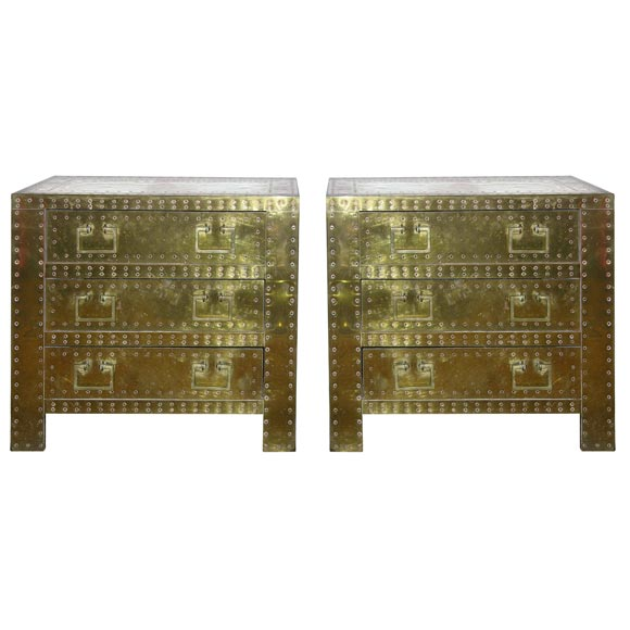 Pair of Strong Box modes by Sarreid Ltd at 1stdibs