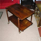 Danish Rosewood Serving Trolley by Poul Hundevad thumbnail 4