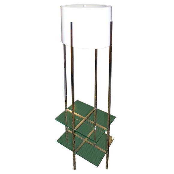 197039s habitat chrome and glass floor lamp at 1stdibs for Habitat chrome floor lamp