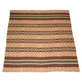 19THC HORSE BLANKET -BROWN,TAN,GREEN,TAUPE