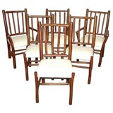 1920-1930'S OLD HICKORY SET OF SIX  DINNING CHAIRS