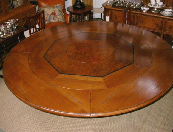 counter height dining table with built in lazy susan images