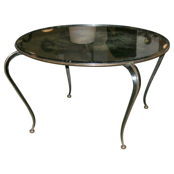 Mirror Top Iron Coffee Table At 1stdibs