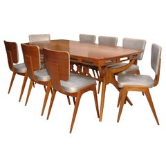 1960's Stein Dining Table and 8 Chairs