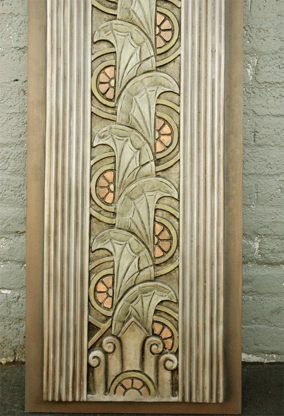 Art Deco Movie Theater Wall Plaques at 1stdibs