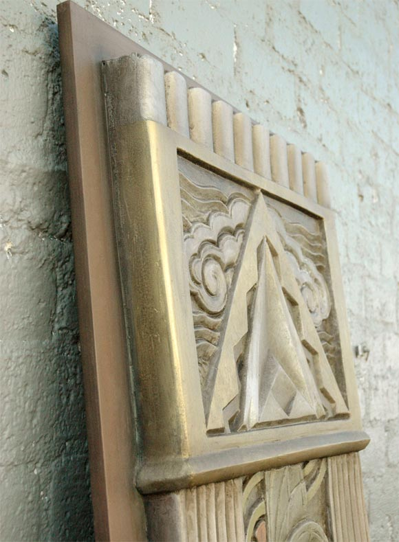Art Deco Movie Theater Wall Plaques For Sale 4