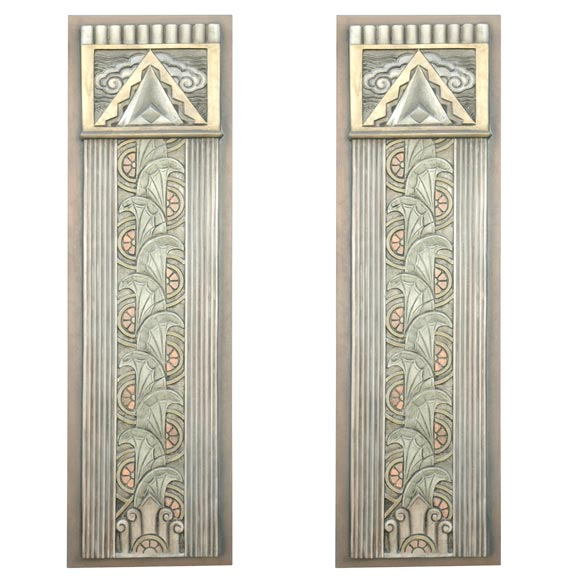 art deco movie theater wall plaques for sale at 1stdibs. Black Bedroom Furniture Sets. Home Design Ideas