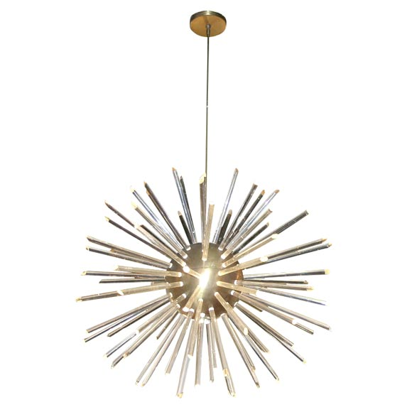 Spectacular Starburst Chandelier with Acrylic Rods at 1stdibs