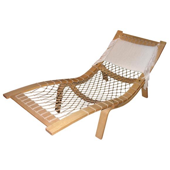 hans wegner hammock lounge at 1stdibs. Black Bedroom Furniture Sets. Home Design Ideas