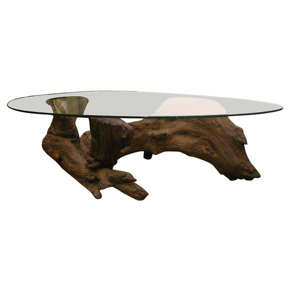 Faux Driftwood Coffee Table: Driftwood Coffee Table At 1stdibs