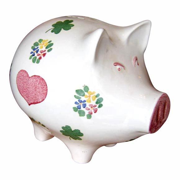 Large 1930s Ceramic Piggy Bank At 1stdibs