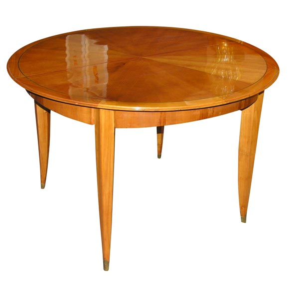 Round Art Deco Extension Dining Table At 1stdibs