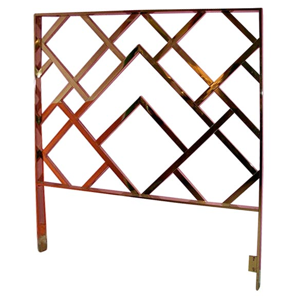 Chinese Chippendale Bed : Brass Chinese Chippendale Queen Headboard at 1stdibs