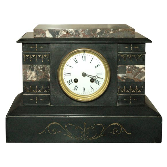 French Marble Clock, 19th Century