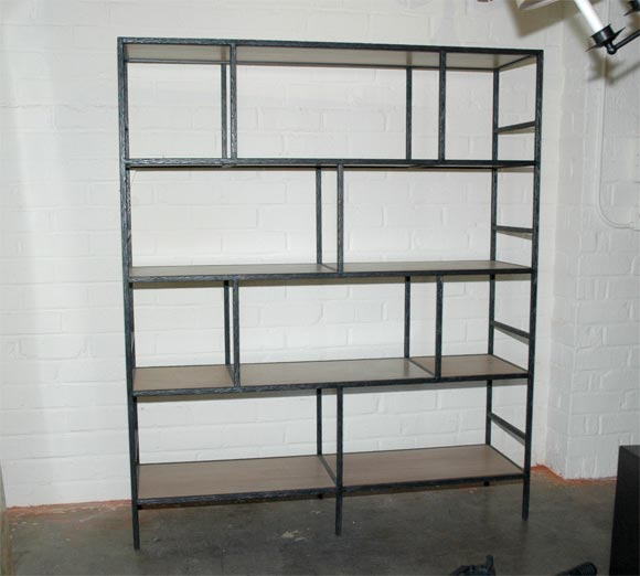 Paul Marra Iron Faux  Bois Bookcase 2