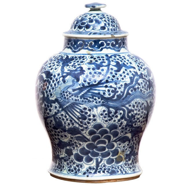 Ordinary Blue And White Jars Part - 2: Qing Period Blue And White Porcelain Temple Jar 1