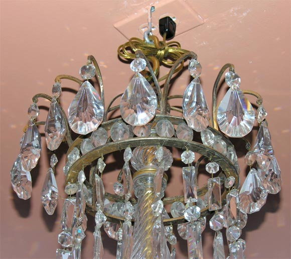 Louis Xvi Crystal And Bronze Chandelier At 1stdibs