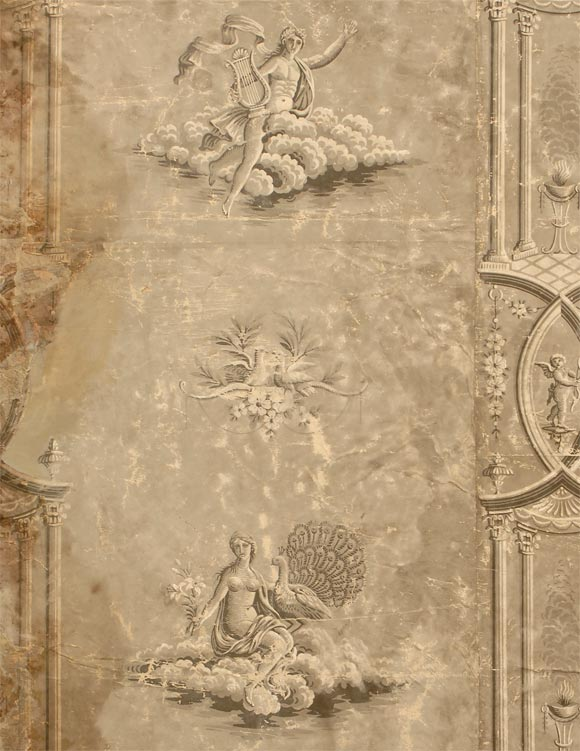 Pair of 19th century french wallpaper panels at 1stdibs for Wallpaper sheets for sale
