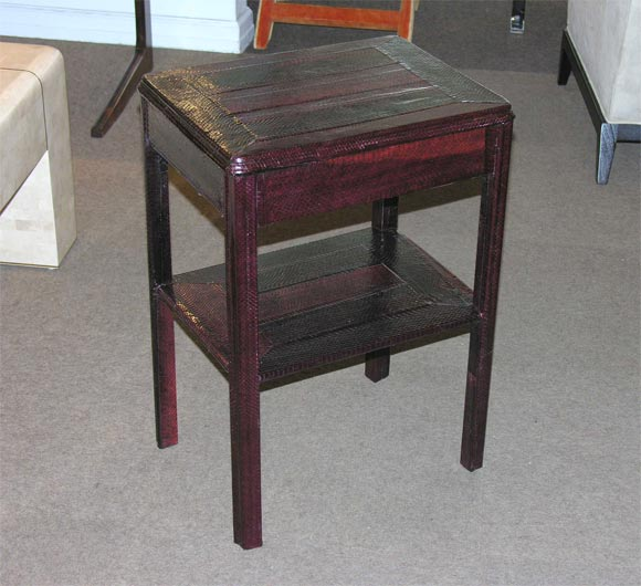 2 tier occasional table covered in python by karl springer for Table in python