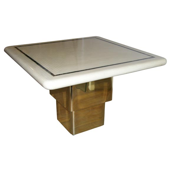 Karl Springer Remote Coffee Table Adjustable Height At 1stdibs