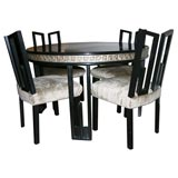 GREEK KEY DINING SET WITH SIX CHAIRS BY JAMES MONT