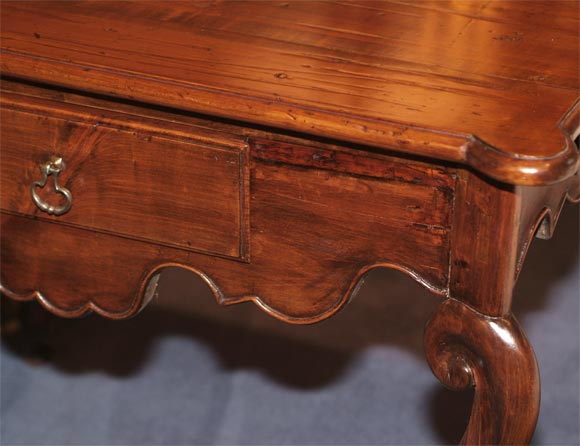 18th C. Louis XV Provincial Chestnut Writing Table 3
