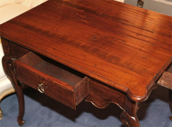 18th C. Louis XV Provincial Chestnut Writing Table 5