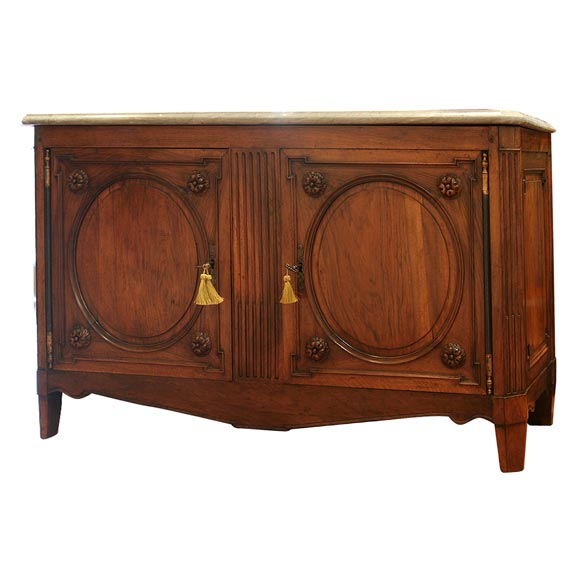 period louis xvi lyonaise fruitwood buffet with marble top for sale at 1stdibs. Black Bedroom Furniture Sets. Home Design Ideas