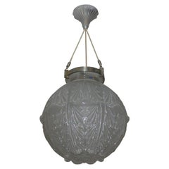 """French Chandelier """"Grosse Boule Champs Elysees"""" by René Lalique"""