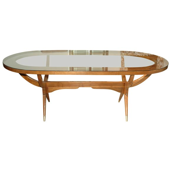 60s Oval Dining Table with Glass Top at 1stdibs : x from www.1stdibs.com size 580 x 580 jpeg 17kB
