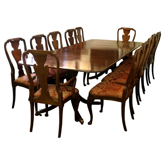 this 12 chairs table baker charlston collection in mahogany is no