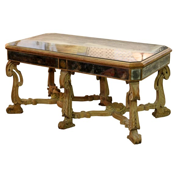 Antique French Mirrored Coffee Table At 1stdibs