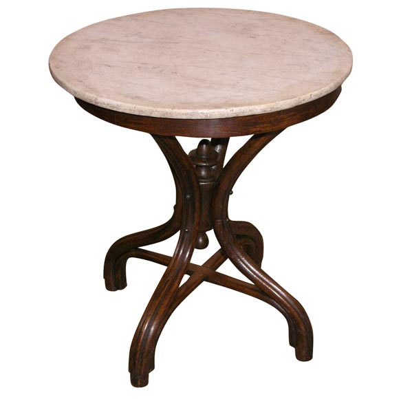 Beau Thonet Marble Top Table For Sale