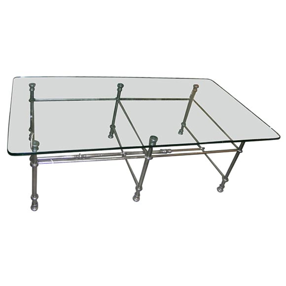 Glass Iron Coffee Table