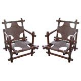Pair of Walnut Chairs