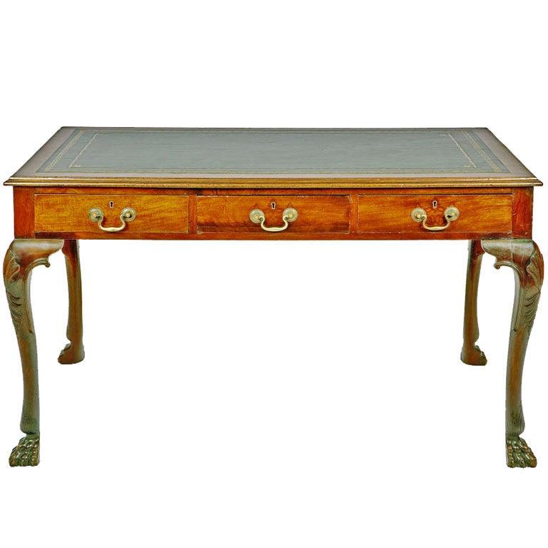 Irish Georgian Mahogany Writing Table For Sale At 1stdibs