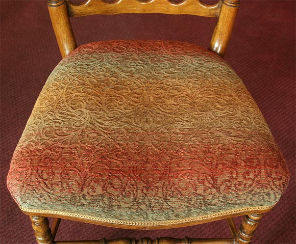 Set of 8 Napoleon III Turned Dining Chairs For Sale 1