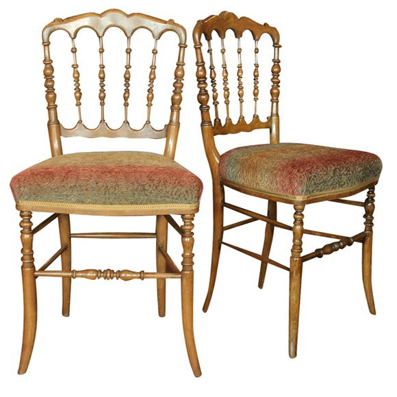 Set of 8 Napoleon III Turned Dining Chairs For Sale
