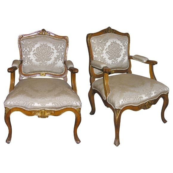 pair of danish walnut regence fauteuil at 1stdibs. Black Bedroom Furniture Sets. Home Design Ideas