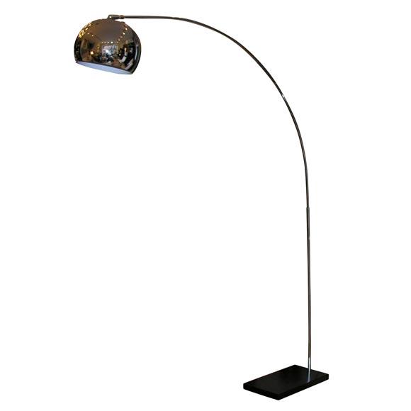 Chrome Arch Floor Lamp At 1stdibs