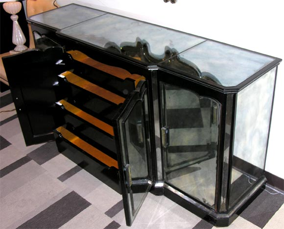 1940 39 S Hollywood Smoked Mirrored Sideboard At 1stdibs